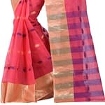 Omior Pure Cotton Handloom Tant Saree...