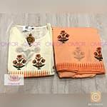 Omior Hand Block Printed Anarkali Kurti Set