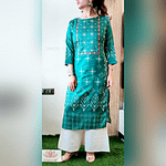 Omior Pure Masline Embroidered Kurti...