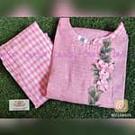 Omior Floral Embroidered Designer Kurti...