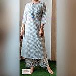 Omior Designer Pure Cotton Printed Suit