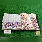 Omior Cotton Embroidered Kurti Set