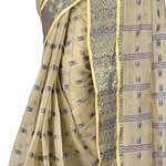 Omior Pure Cotton Tant Saree Biscuit...