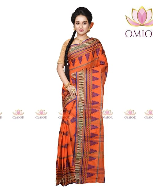 Omior Pure Cotton Handloom Saree In...