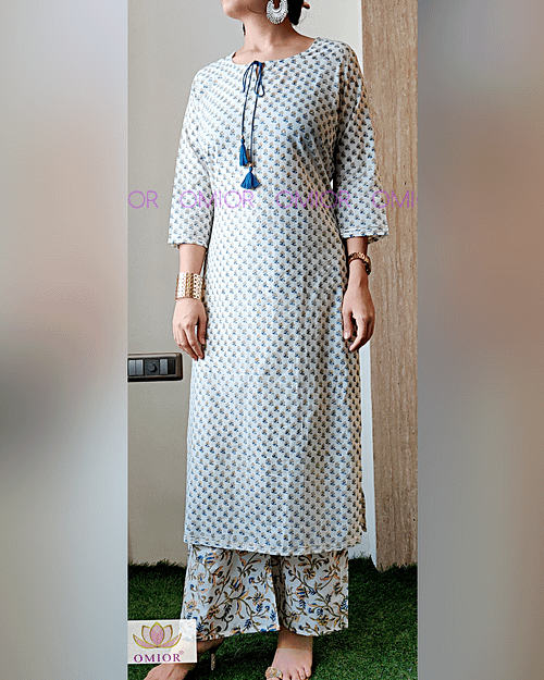 Omior Designer Pure Cotton Printed Suit