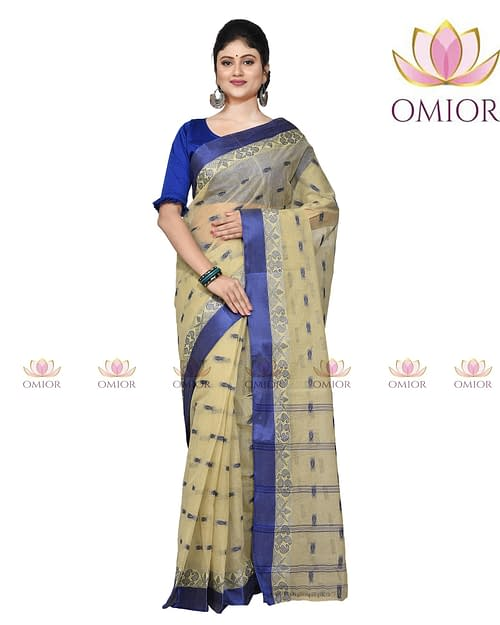 Omior Pure Cotton Bengal Tangail Saree...