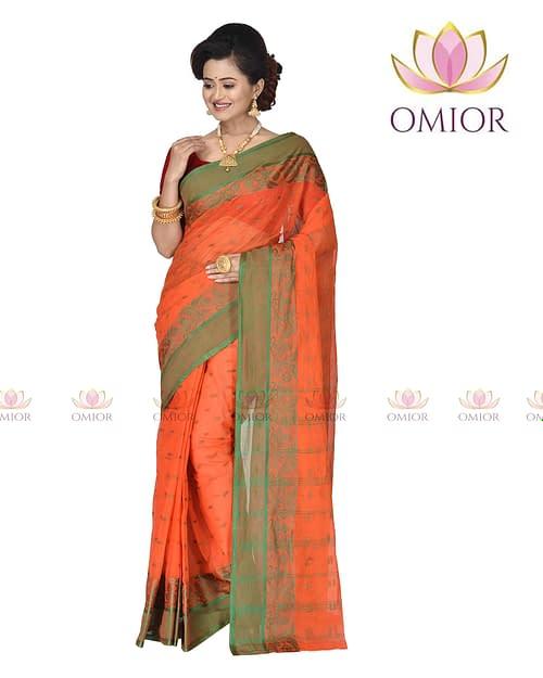 Omior Designer Pure Cotton Tant Bengali...