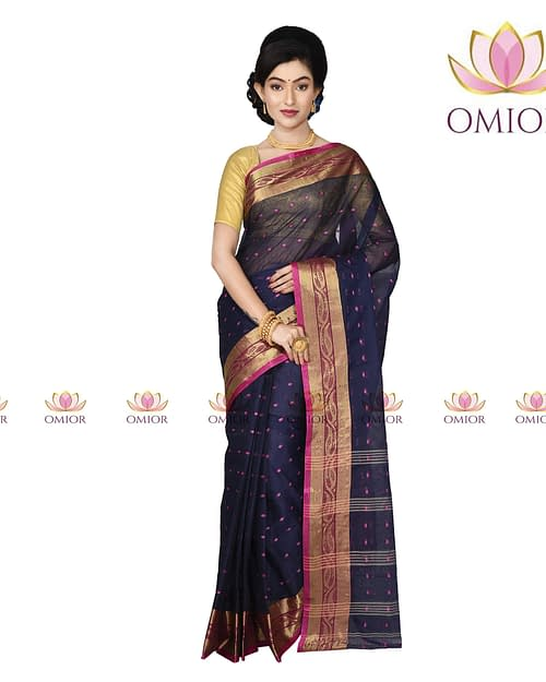Omior Designer Tant Handloom Cotton Saree