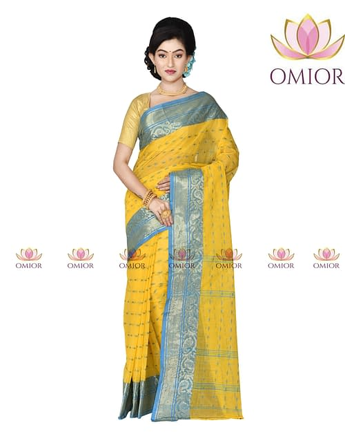 Omior Bengali Cotton Saree Handwoven