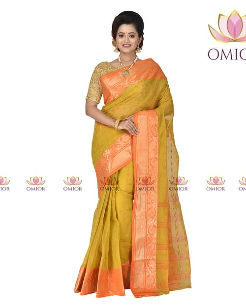 Omior Pure Cotton Tant Saree of Bengal