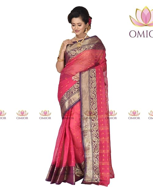 Omior Bengal Designer Tant Saree