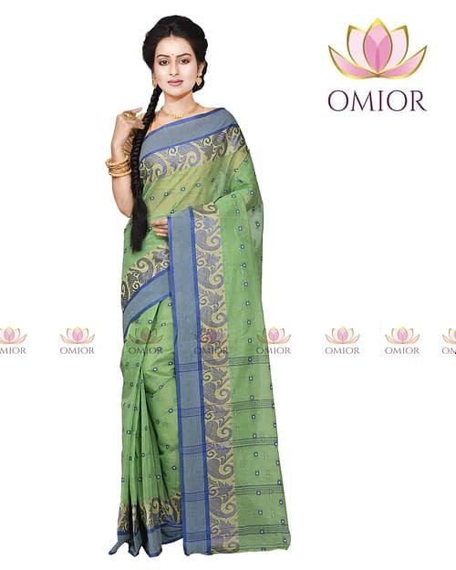 Omior Designer Wear Tant Cotton Saree