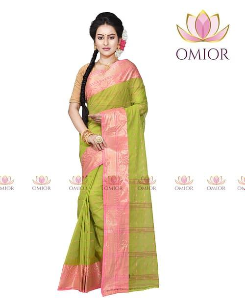 Omior Pure Tant Cotton Designer Handloom...