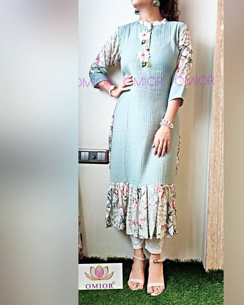 Omior Fabulous Pure Cotton Kurti Design