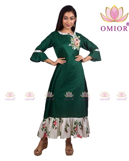 Omior Pure Cotton 3D Floral Embroidery...