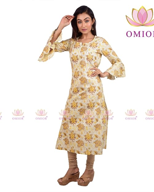 Pure Cotton Omior Block Printed Kurti