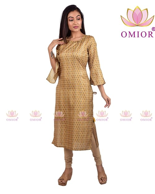 Omior Pure Tussar Sequins work Kurti