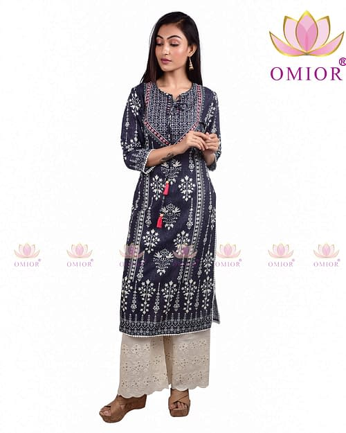 Pure Cotton Omior Block Printed Kurti...