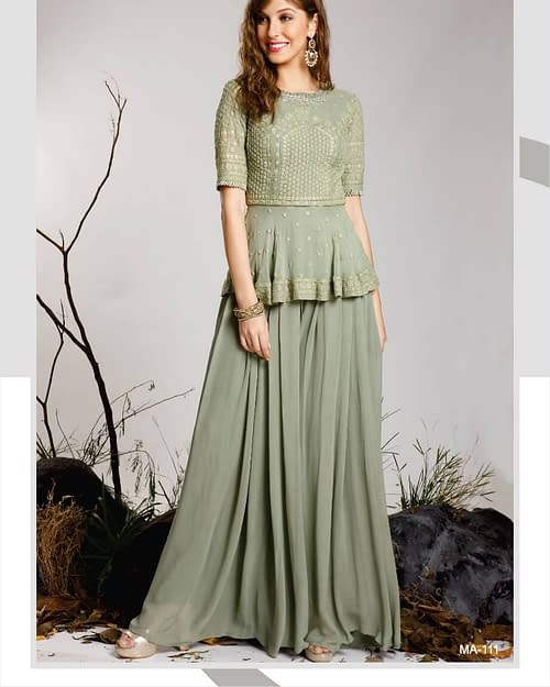 Best Pure Georgette Chikankari Gown...