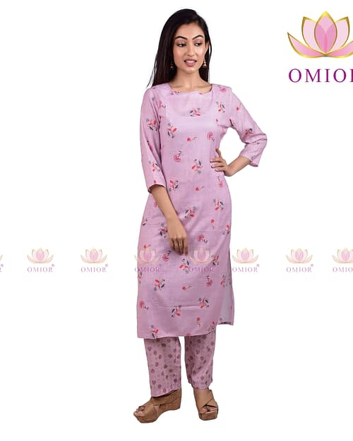 Awesome Pure Linen Floral Print Kurta...