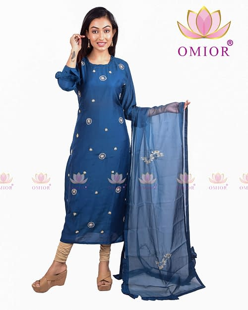 Brilliant Pure Musleen Hand Embroidered Kurti of 2020