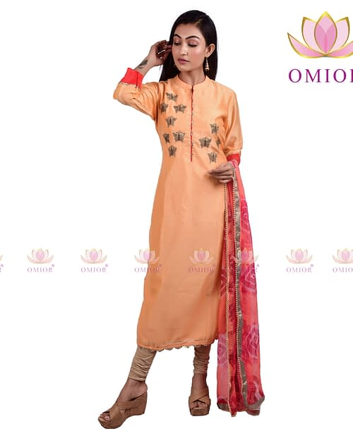 Superb Pure Chanderi Kurti with Dupatta...