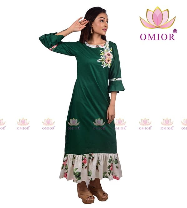 3d Floral Embroidery Kurti