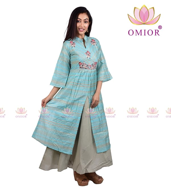 Omior Embroidered Gown