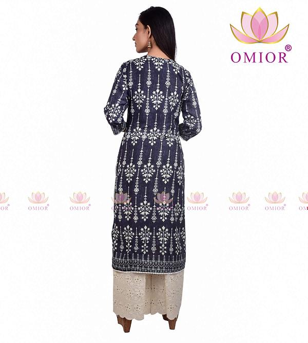 omior block printed kurti set