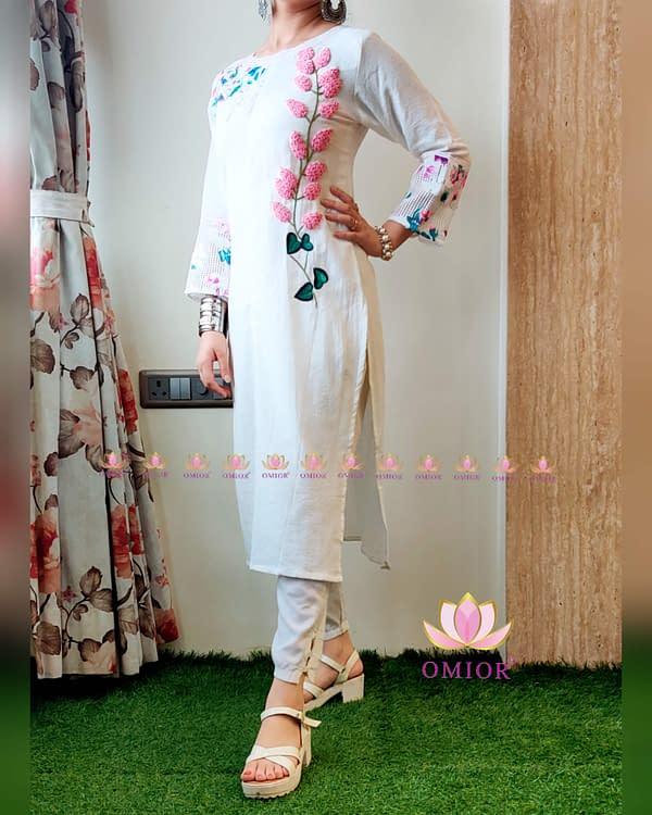 Resham Embroidery Kurti